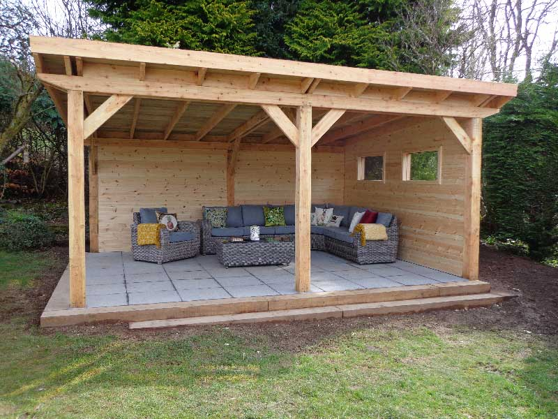 Gallery graham sandals garden rooms studios and garages for Small garden shelter